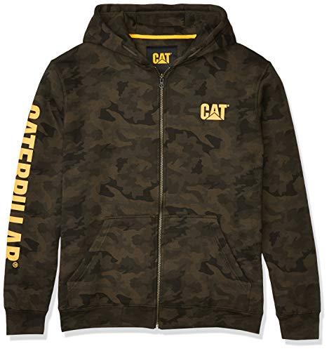 Caterpillar Herren Full Zip Hooded Sweatshirt Kapuzenpulli, Night Camo, Small