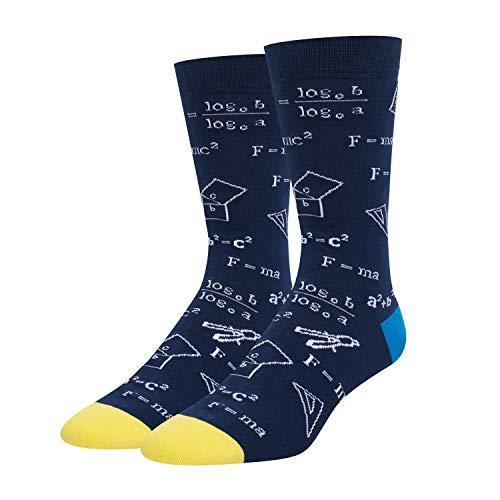 HAPPYPOP Herren-Socken für Mathematik, Chemie, Biologie, witzig, Lehrer, Nerd, Geni-Socken, Geschenk für Mathematiklehrer - - Medium