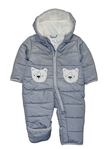 Carter's Baby Boys Pram Suit, Heather Gray Bear, 6/9 Months