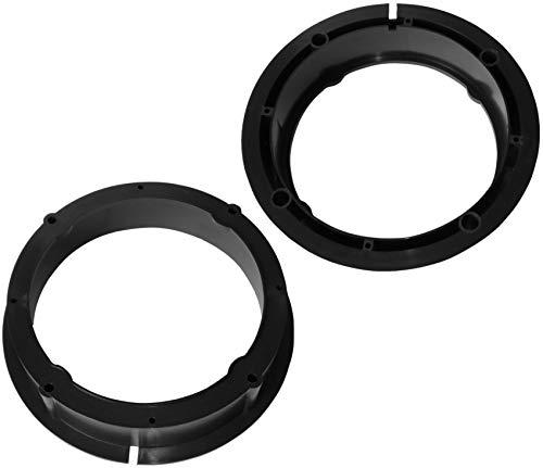 AERZETIX: 2 Adaptadores soportes de Altavoces - 165mm - Puertas Delanteras/Traseras - Estante Trasero Lateral – para Automóvil