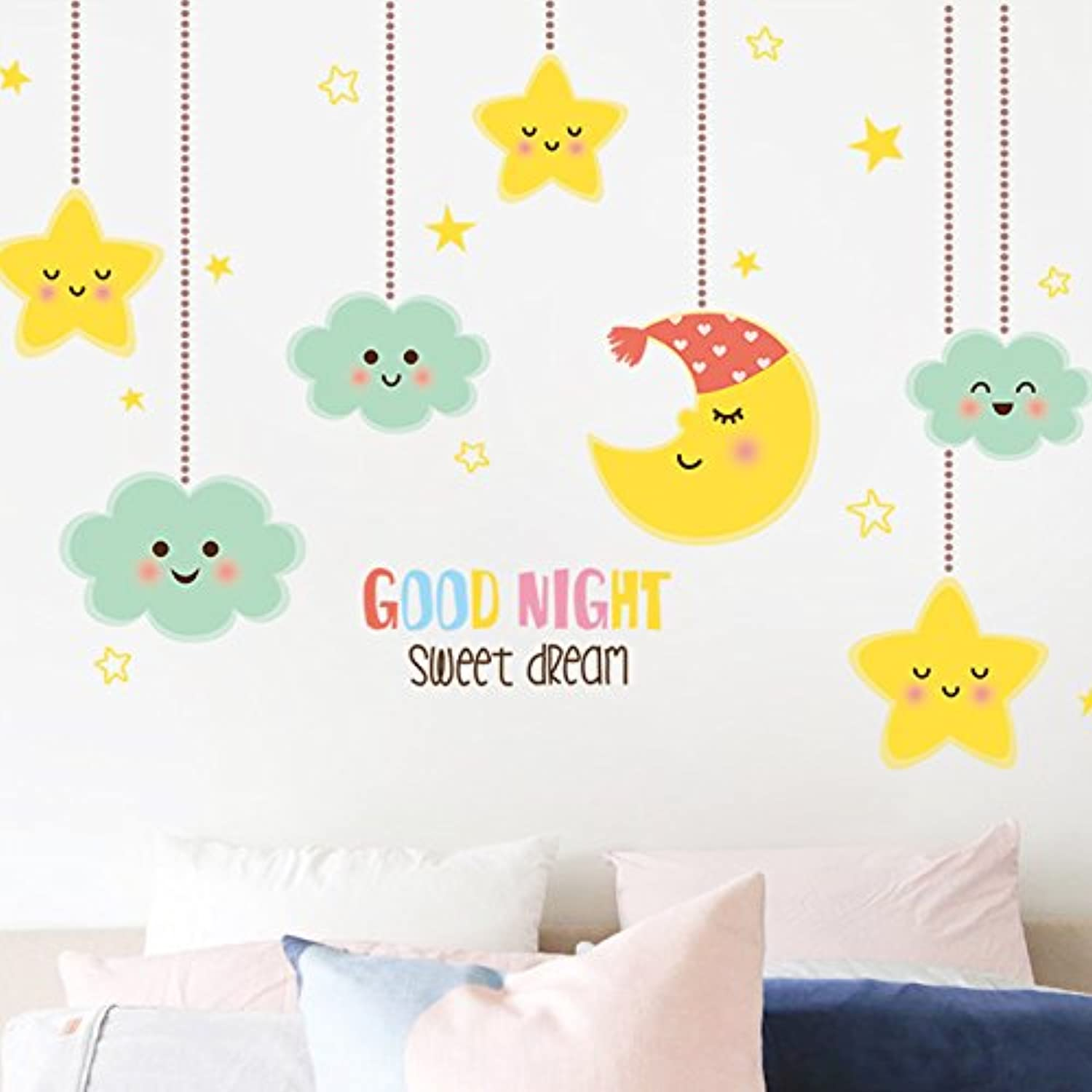 Znzbzt Wall on Living Room Wall Sticker Decor Posters self Adhesive ...