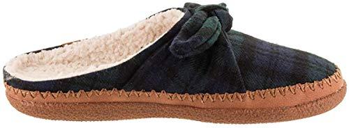 TOMS Ivy Womens Slippers 37.5 EU Green Plaid
