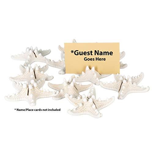 Knobby Starfish Place Card Holder Set | Knobby Starfish for Beach Wedding Place Cards | Starfish for Wedding or Event Table Decor | (10 Piece Set) | Plus Free Nautical Ebook by Joseph Rains