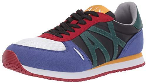 A|X Armani Exchange Herren Retro Running Sneaker Turnschuh, Mehrfarbig, 36.5 EU