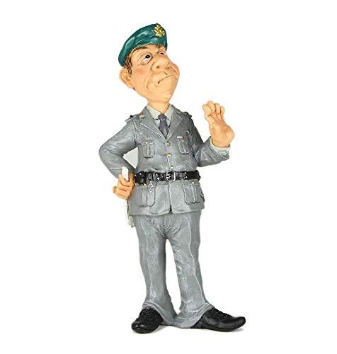 Les Alpes Orig. Figura Guardia di Finanza, 18cm - Statuina Figurina Dipinta a Mano in Resina Sintetica - Collezione Funny World Mestieri Pubblico Ufficiale - 014 99734