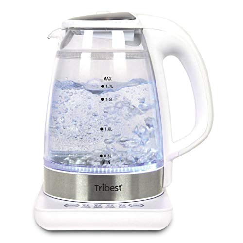 Tribest GKD-450 Raw Tea Kettle, Glass Electric Brewing System, 110V, White