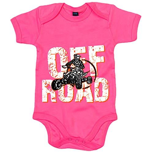 Body bebé Quad Off Road - Rosa, Talla única 12 meses