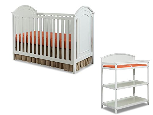 Price comparison product image Imagio Baby Harper 3 in 1 Cottage Panel Crib and Changing Table Set