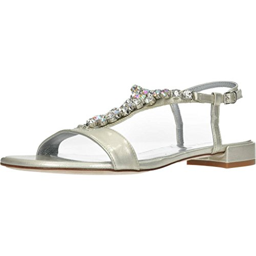 KESS Sandalen/Sandaletten, Farbe Silber, Marke, Modell Sandalen/Sandaletten 675 Silber