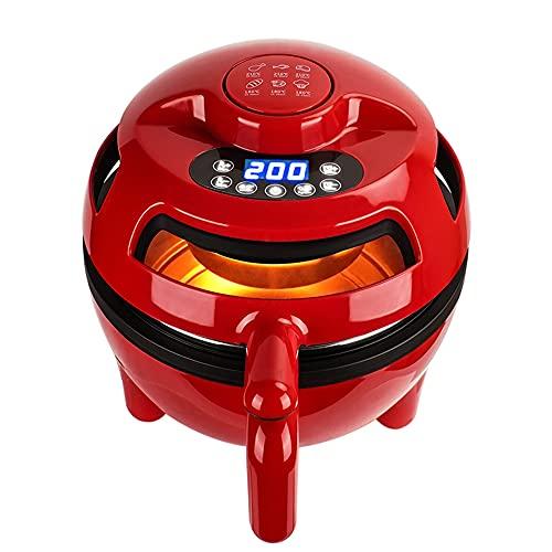 Horno de freidora de aire, freidora de aire de gran capacidad de 1100 W 4.5QT con pantalla táctil digital, apagado automático, cesta desmontable antiadherente