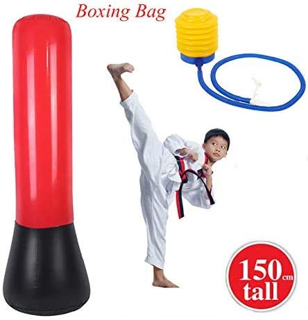 GOTOTOP Inflatable Punching Bag, PVC Explosion Proof Super Thick Iflatable Sandbags Suit for Boxing Fitness, Best Gift for Boxing Enthusiasts