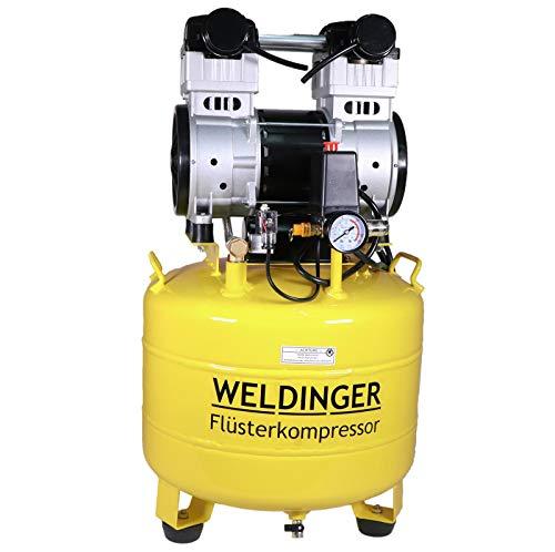 WELDINGER Flüsterkompressor FK 150 up innenbeschichteter 35 l Tank 1100 W (Silent Kompressor Kolbenkompressor)