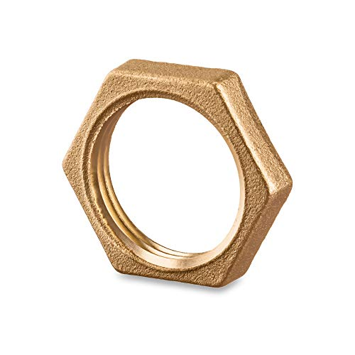 Brass Pipe Fitting - Locknut 1' NPT Female - 1 inch NPT Female
