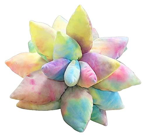 1 pieza3D Suculenta almohada de cactus, lindos suculentas, adecuado para los amantes del jardín o los verdes, la almohada de la planta verde del bebé, la decoración del hogar de la decoración de la no
