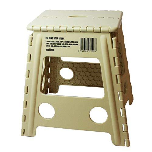 WHATNOT 折りたたみチェア サンドベージュ フォールディング ステップ スツール アウトドア 椅子 踏み台 脚立 洗車 釣り フィッシング 折り畳みチェア