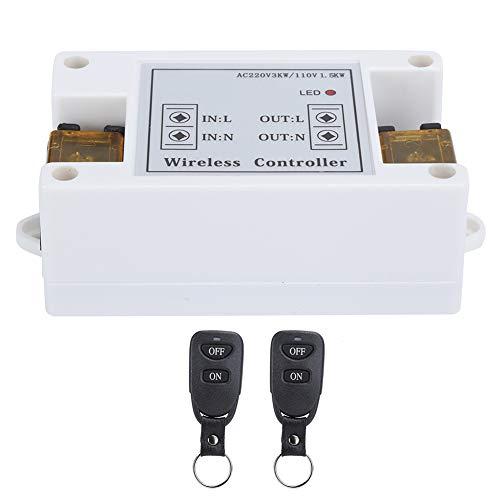 Mxzzand Control Remoto, Interruptor De Control Remoto De 220 V, Variedad De Métodos De Trabajo para El Motor De Luz De La Bomba De Agua Doméstica