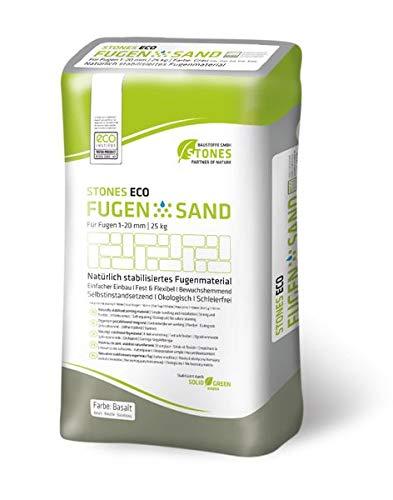 STONES ECO FUGENSAND 1-20 mm basalt 25 kg - innovativer Fugensand Erosionsbeständigkeit Bewuchshemmend
