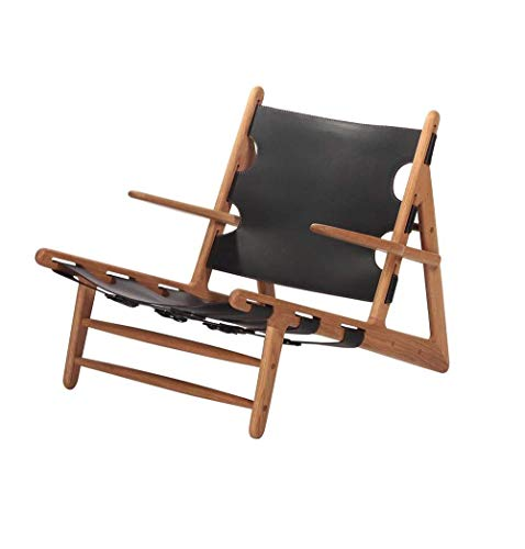 Jase Lounge Chair, Ash & Black Leather
