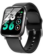 スマートウォッチ スポーツウォッチ 萬歩計「2020最新版IP68防水?Bluetooth5.0?18種運動対応」スマートブレスレット リストバンド ストップウォッチ smart watch 著信通知 電話通知 腕時計 日本語アプリと説明書 ブラック