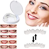 Snap On Smile Dental Care Repair Smile Whitening Teeth Set Simulación Brackets Reparación Temporal Dientes Perdidos Silicona Analógico un par Incluye 2 Set