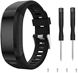 Junboer Compatible Garmin Vivosmart HR Watch Band, Accessories Silicone Replacement Wrist Watch Strap for Garmin Vivosmart HR SmartWatch(NOT for Vivosmart HR+), Only for 4PK