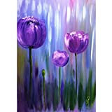 5D Diamond Painting Kits for Adults Diamond Painting by Number Kits Adults Full Frill Arts Craft Wall Decor Purple Tulip 11.8x15.7in 1 Pack by SimingD