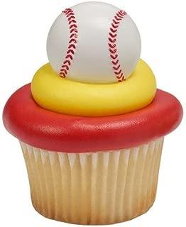 National Cake Supply 3D Baseball Cupcake Rings, White