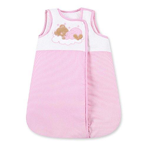 Saco de dormir para bebé, saco de dormir para niños, para cuatro estaciones, 70 cm, 100% algodón rosa Rosa