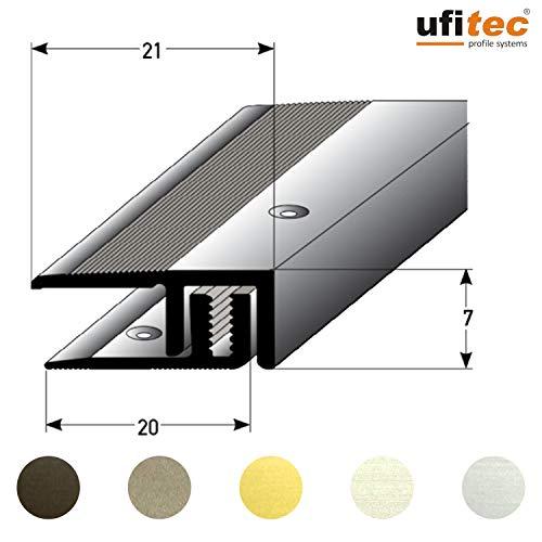 ufitec® Profi Smart Profilsystem für Vinylböden - geeignet für Belagshöhen von 5-9 mm - ALU eloxiert - SILBER - (Abschlußprofil - Länge: 100 cm, Silber)