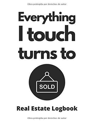 Broker de bienes raíces Libro de registro de corredor de bienes raíces e inversionista de bienes raíces: Cuaderno de vendedor de objetos de 120 ... y aletas de casas e inversores de casas