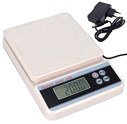 Balança Digital Precisão 5 kg Conta Peças com Fonte Branco CBRN11988