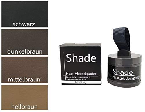 Shade Ansatzpuder – Haar Make Up zur Haarverdichtung, Haar Concealer zum Ansatz kaschieren, wasserfest, Haarpuder – dunkelbraun, 4g