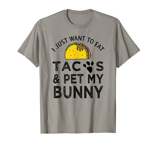 Funny Taco Lover Conejito de Pascua Cinco De Mayo Regalo Para Mamá Papá Camiseta