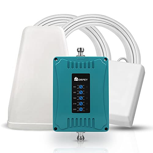 ORPEY 5 Banda Amplificatore del Segnale LTE 4G 3G GSM Ripetitore cellulare 800/900/1800/2100/2600 Bande 20/8/3/1/7 Ufficio a Casa Ripetitore Voce e Dati Per tutti Gli Operatori Europei