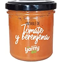 Yamy BIO Crema Untable Vegetal de Tomate y Berenjena - Pack de 6 Frascos x 145 gr - Producto Ecológico elaborado en Navarra