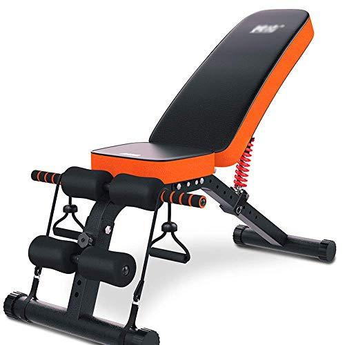 AYDQC Multifunktionale Sit Up Bench Fitnessgeräte Haushalt Flachbank Kurzhantel Bank Falten Workout Bench Bauch Gerät fengong