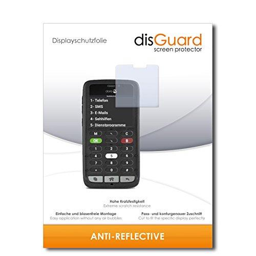 disGuard® Bildschirmschutzfolie [Anti-Reflex] kompatibel mit Doro 8031C [4 Stück] Entspiegelnd, Matt, Antireflektierend, Extrem Kratzfest, Anti-Fingerabdruck - Panzerglas Folie, Schutzfolie