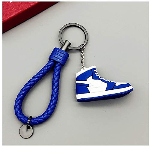 Ykun Portachiavi Sneakers Blu, Portachiavi Creativo Modello di Scarpa Tridimensionale, Ciondolo Portachiavi, Ciondolo Chiave Ragazzo Personalizzato-A5