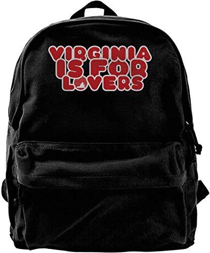 Virginia is for Lovers Vintage Unisexe Toile Sac à bandoulière Voyage Sac à Dos Sacs d'école