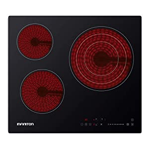 IN Placa VITROCERAMICA INFINITON VITRO316 (Deteccion de Olla, Control Tactil, 9 Niveles de Potencia) (3 Fuegos)