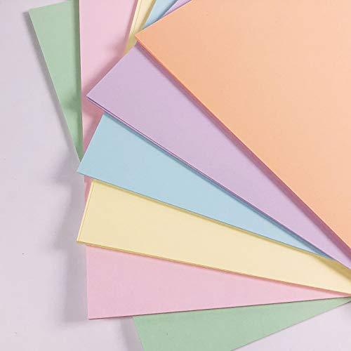 Pastellkarton, A4, gemischte Pastellkarten, 50 Blatt, 160 g/m², 6 Farbtöne, A4, Drucker, Kopierer, farbige Kartonbögen