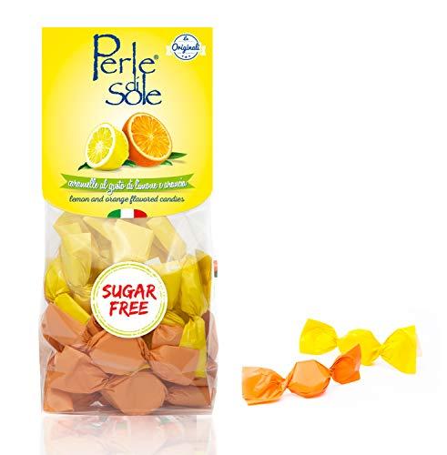Bonbons mit Zitronen- und Orangenaroma ohne Zucker - Perle di Sole
