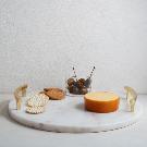 Marble + Brass Round Cheese Board | west elm