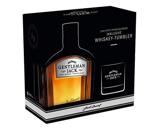 Jack Daniel's Gentleman Jack Geschenkset mit Tumbler Bourbon Whiskey in limitierter Probiergröße 0,2l 40%