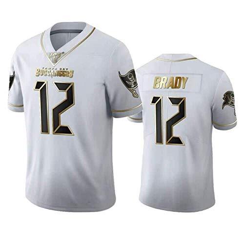 LAVATA Hombres NFL Rugby Jersey Camiseta De Fútbol Tampa Bay Buccaneers 12# Tom Brady Camisetas De Fans De Uniformes De Rugby Unisex Imprimir Top Manga Corta para Hombres