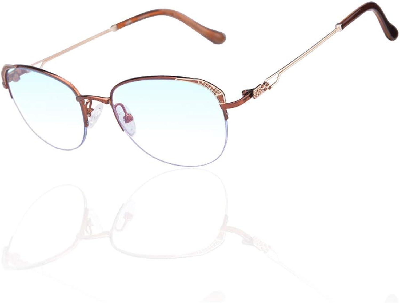 están haciendo actividades de descuento Gafas de Lectura Anti-Azul Mujeres ultraligeras ultraligeras ultraligeras Moda antifatiga Lejos y Cerca de Doble Uso +1.5 ( Color   marrón , Talla   275 Degrees )  40% de descuento
