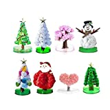 HAU Filler Magic Growing Christmas Tree Funny Funny Crystal Gift Toy Stocking - Novelty Kit for Kids Funny Educational and Party Toys (Snowman)