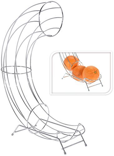 Vanorell Obstschale Apfel Obstkorb Hängekorb Apfelsinen Mandarinen Orange ObstbehälterKorb Dekoschale Küchenampel Metallkorb Gemüsekorb