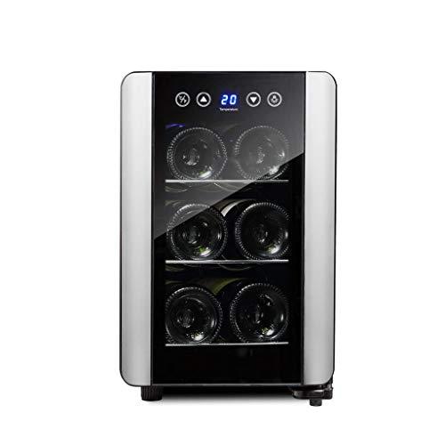 Nuitab wijnkoelkast met 6 flessen, inhoud 10 - 18 °C, temperatuurweergave, geschikt voor eetkamer, woonkamer, kantoor, keuken