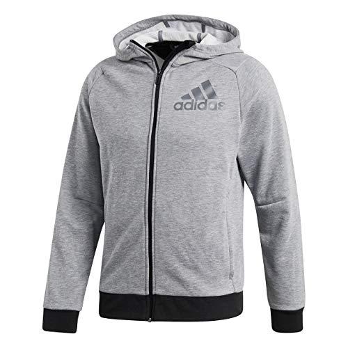 adidas Herren Sweatshirt PRIME HOODIE, Mehrfarbig (Grau/Schwarz), S